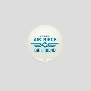 Proud Air Force Girlfriend W Mini Button