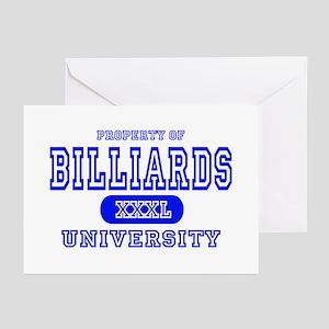 Billiards University Greeting Cards (Pk of 10)