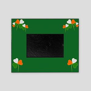 Irish Shamrocks tri color Picture Frame