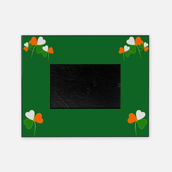 Irish Shamrocks tri color Picture Frame
