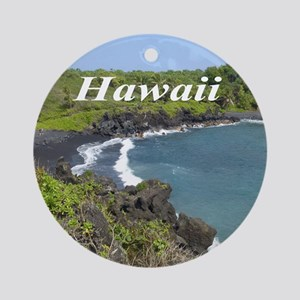 Black Sands Beach Ornament (Round)