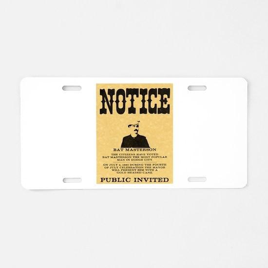 Bat Masterson Aluminum License Plate