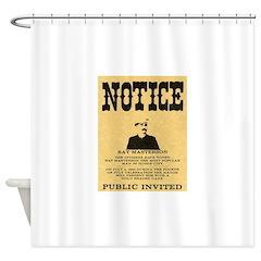 Bat Masterson Shower Curtain
