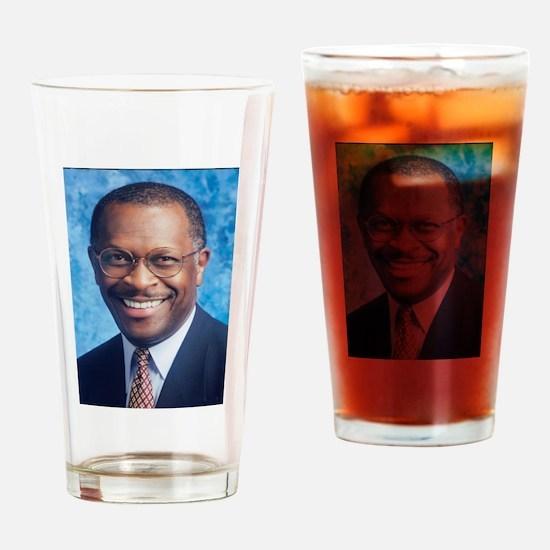 Herman Cain Drinking Glass