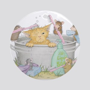 Mice Co Cat Wash Ornament (Round)