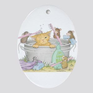 Mice Co Cat Wash Ornament (Oval)