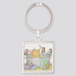 Mice Co Cat Wash Square Keychain