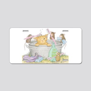 Mice Co Cat Wash Aluminum License Plate