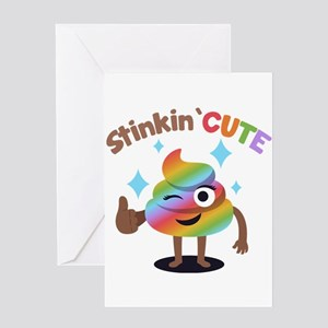Poop emoji greeting cards cafepress emoji rainbow poop stinkin cute greeting card m4hsunfo