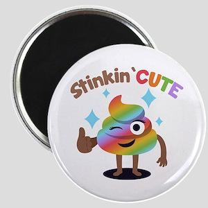 Emoji Rainbow Poop Stinkin' Cute Magnet