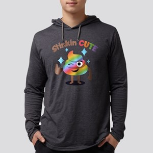 Emoji Rainbow Poop Stinkin' Cute Mens Hooded Shirt