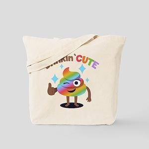 Emoji Rainbow Poop Stinkin' Cute Tote Bag