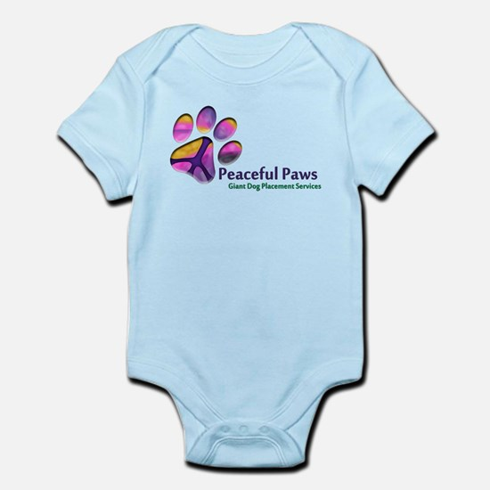 Peaceful Paws Rescue Logo Infant Bodysuit