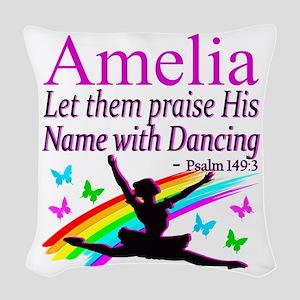 BEST DANCER Woven Throw Pillow