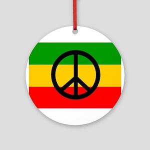 Peace Flag Ornament (Round)