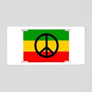Peace Flag Aluminum License Plate
