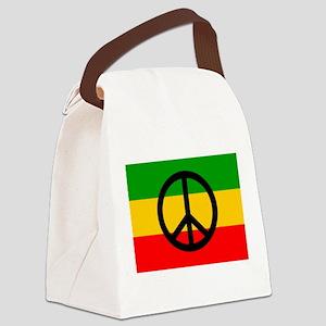 Peace Flag Canvas Lunch Bag