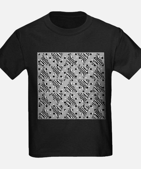 Zebra Print Triangles with Dots. T-Shirt