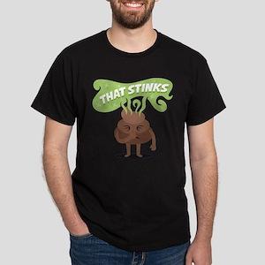 Emoji Poop That Stinks Dark T-Shirt