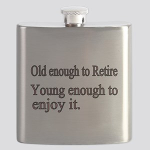 Old enough to Retire Flask