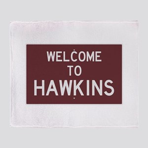 Welcome to Hawkins Throw Blanket