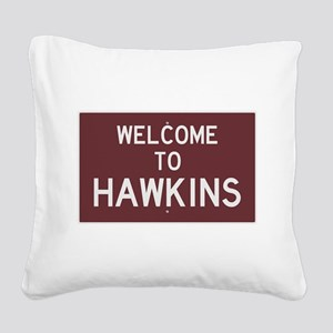 Welcome to Hawkins Square Canvas Pillow