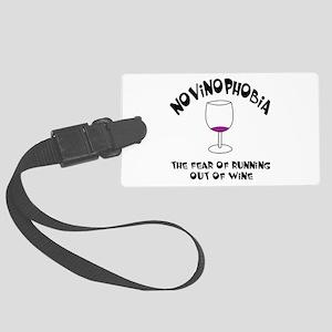 Novinophobia Wine Glass Large Luggage Tag
