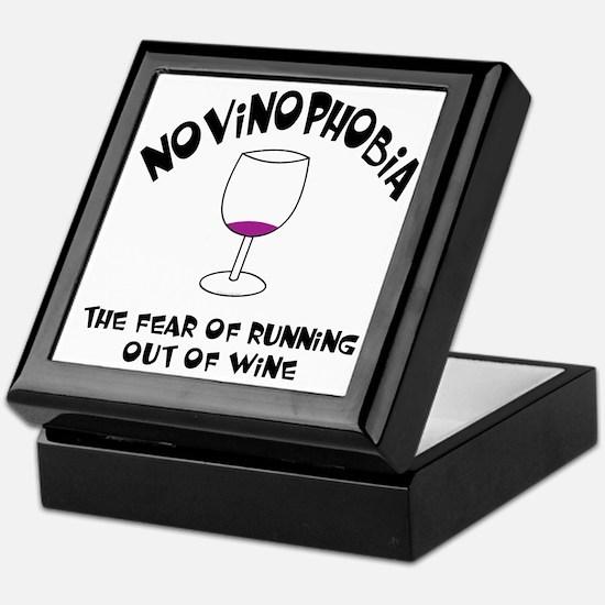 Novinophobia Wine Glass Keepsake Box