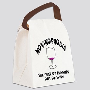 Novinophobia Wine Glass Canvas Lunch Bag