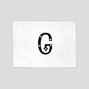 Anglo Saxon Monogram G 5'x7'Area Rug