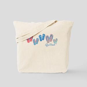 Long Beach Sandal Stripe Tote Bag