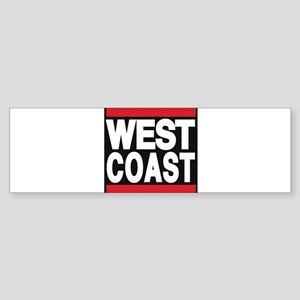 west coast red Bumper Sticker