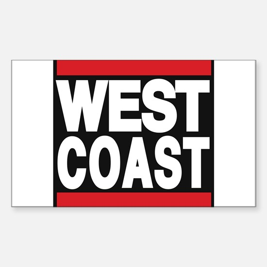 west coast red Decal