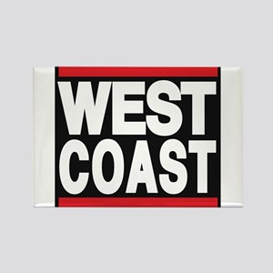 west coast red Rectangle Magnet