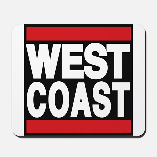 west coast red Mousepad