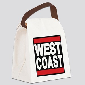 west coast red Canvas Lunch Bag