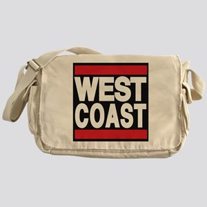west coast red Messenger Bag