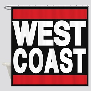 west coast red Shower Curtain