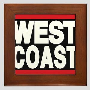 west coast red Framed Tile