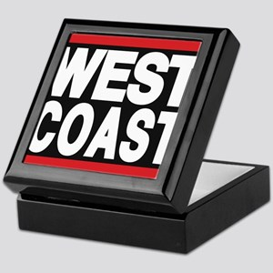 west coast red Keepsake Box