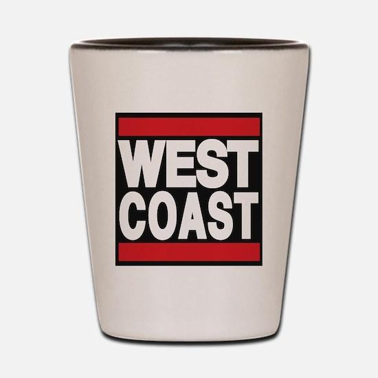 west coast red Shot Glass