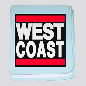 west coast red baby blanket