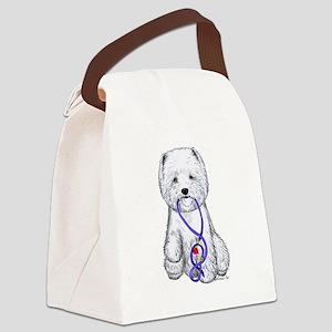 Westie Walkie Canvas Lunch Bag
