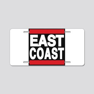 east coast red Aluminum License Plate
