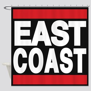 east coast red Shower Curtain