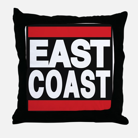 east coast red Throw Pillow