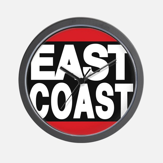 east coast red Wall Clock