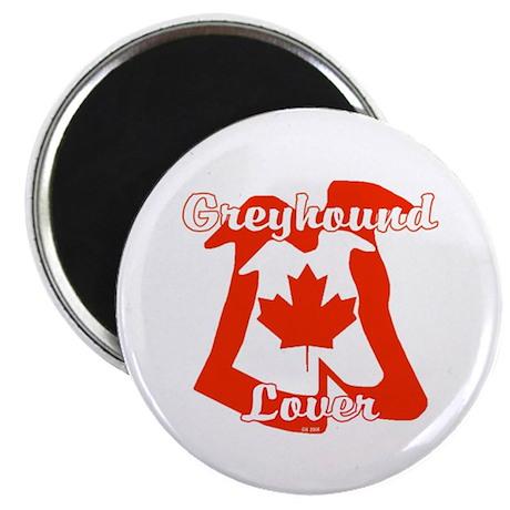 CANADIAN GREYHOUND LOVER ROUND MAGNET