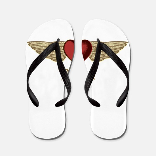Yvonne the Angel Flip Flops