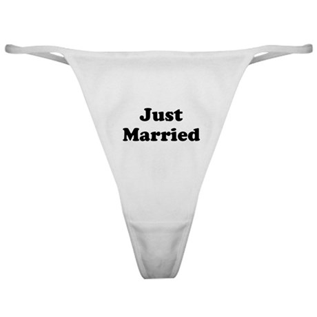Just Married Classic Thong